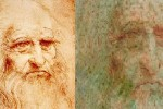 Da Vinci's self-portrait in poor condition, damaged beyond repair