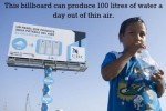 Amazing! Billboard Makes Water From The Thin Air