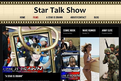 StarTalkShow.com star talk show Rob Simone, Independent film, a star is drawn, documentary,  radio tv host interviews
